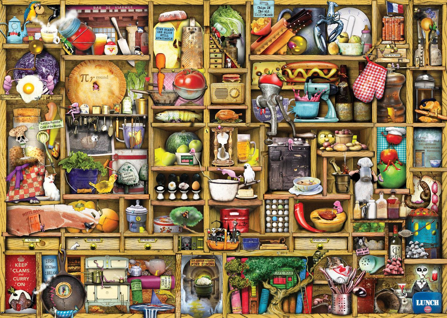 Ravensburger The Curious Cupboard No.1 - The Kitchen Cupboard Jigsaw Puzzle (1000 Pieces)