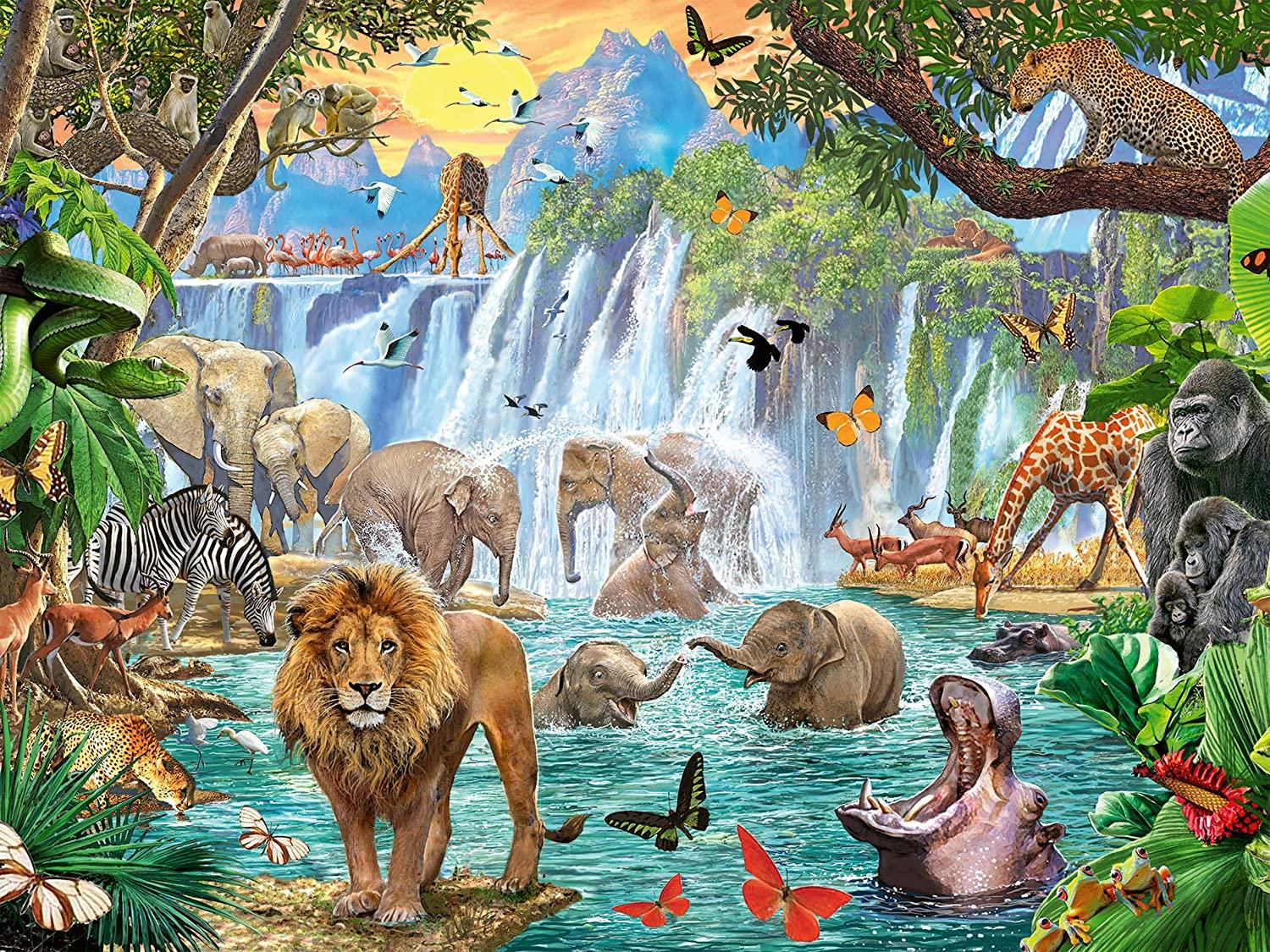 Ravensburger Waterfall Safari Jigsaw Puzzle (1500 Pieces)