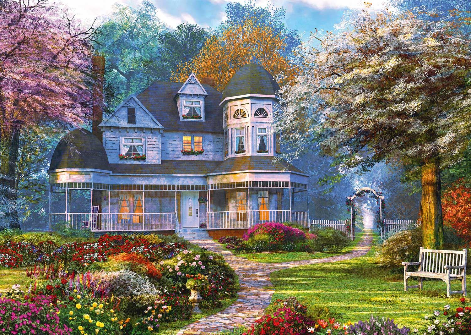 Schmidt Dominic Davison Victorian Mansion Jigsaw Puzzle (1000 pieces)