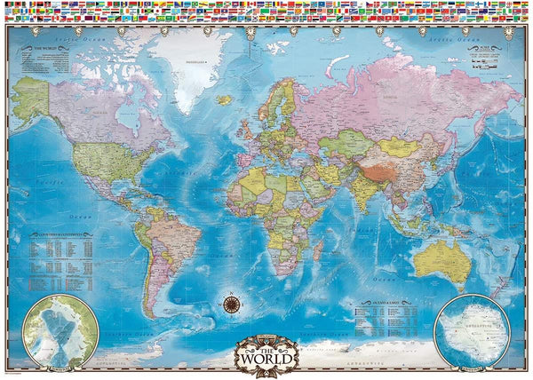 Eurographics Map of the World Jigsaw Puzzle (1000 Pieces)