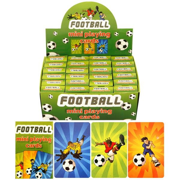 24 Packs of Football Mini Playing Cards