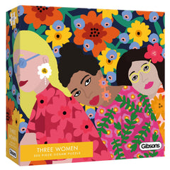 Gibsons Three Women White Logo Jigsaw Puzzle (500 Pieces)