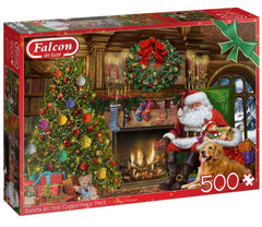 Falcon Deluxe Santa by the Christmas Tree Jigsaw Puzzle (500 Pieces)