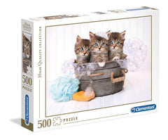 Clementoni Kittens and Soap High Quality Jigsaw Puzzle (500 Pieces)
