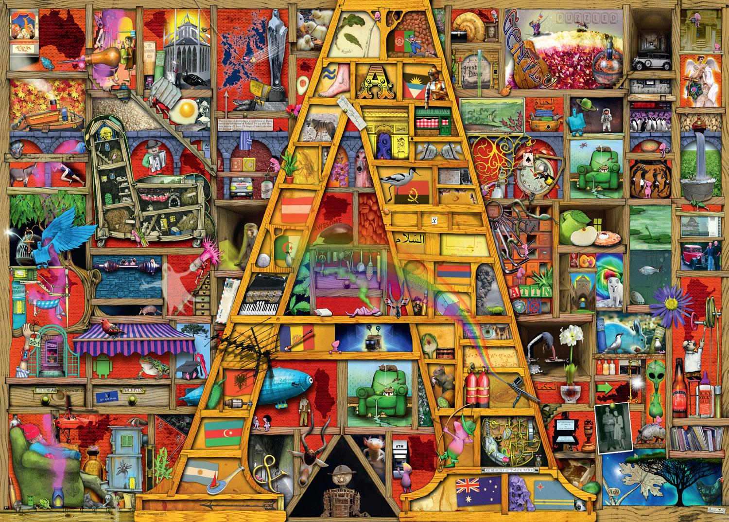 "Ravensburger Colin Thompson - Awesome Alphabet ""A"" Jigsaw Puzzle (1000 Pieces)"