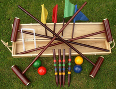 Traditional Garden Games Royal York Boxed Deluxe Croquet Set