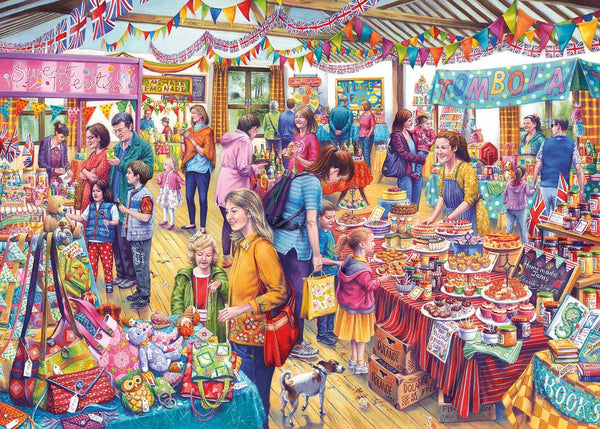 Gibsons Village Tombola Jigsaw Puzzle (500 XL Pieces)
