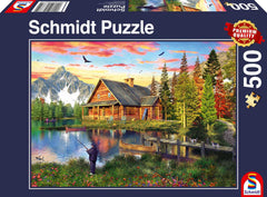 Schmidt Fishing at the Lake Jigsaw Puzzle (500 pieces)