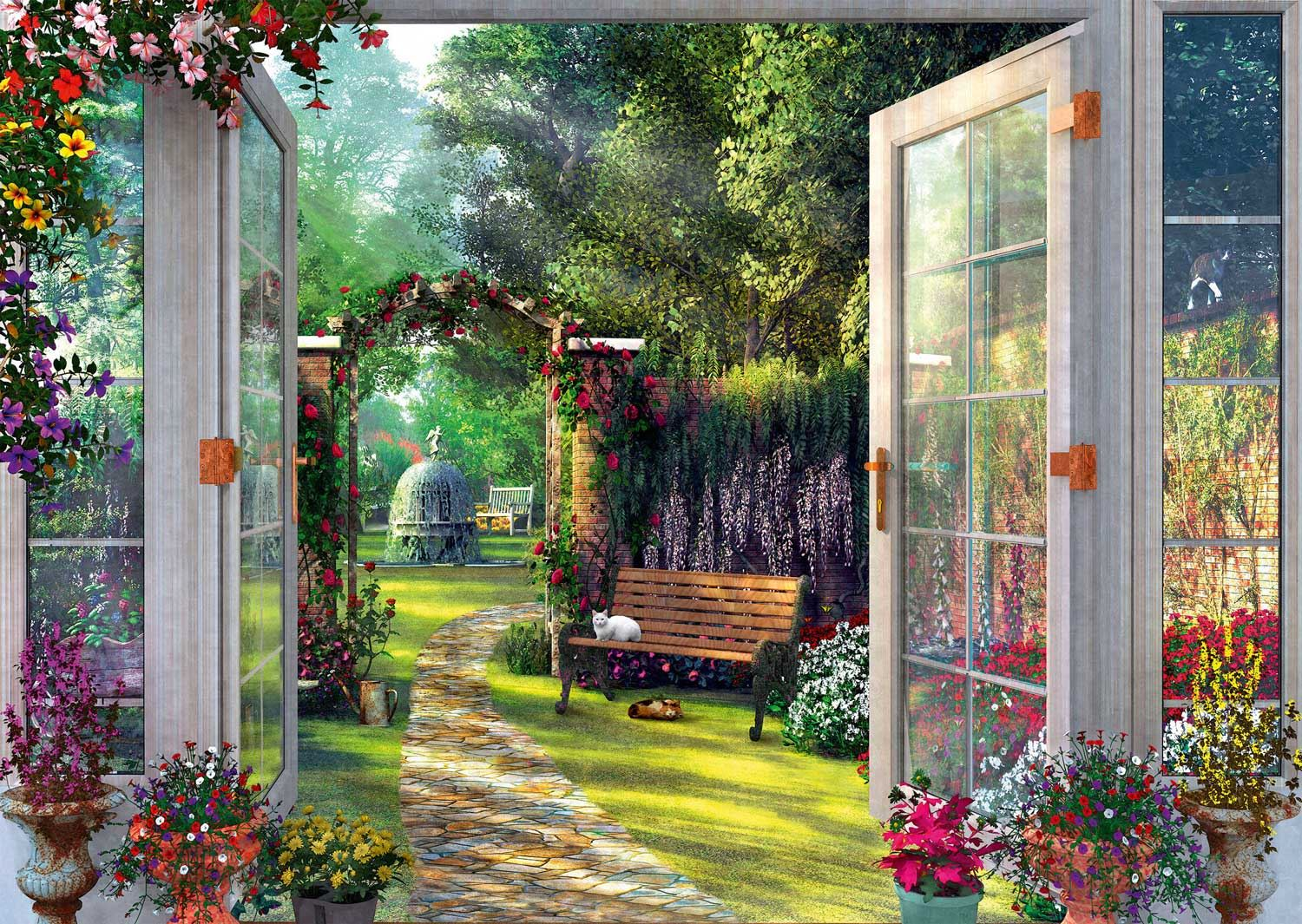 Schmidt Dominic Davison: View Of The Enchanted Garden Jigsaw Puzzle (1000 Pieces)