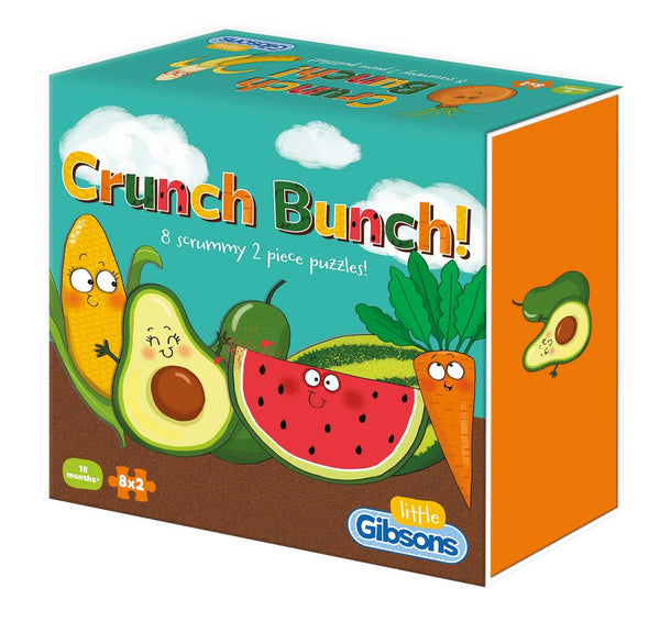 Gibsons Crunch Bunch Jigsaw Puzzles (8 x 2 Pieces)