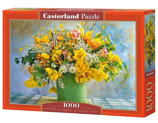 Castorland Spring Flowers in Green Vase Jigsaw Puzzle (1000 Pieces)