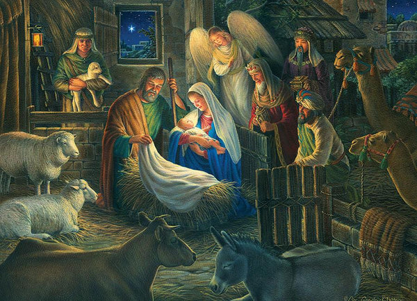 Cobble Hill Away in a Manger Jigsaw Puzzle (500 Pieces)