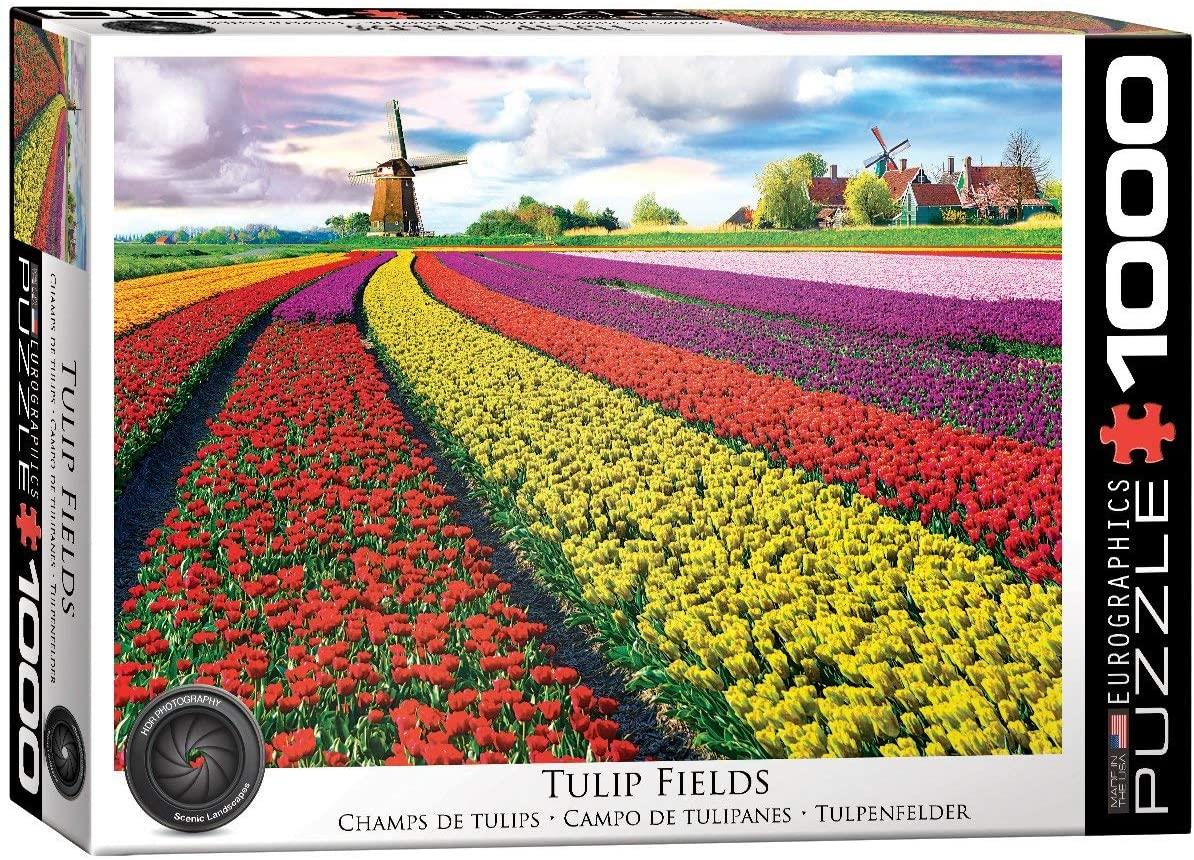 Eurographics Tulip Fields Netherlands Jigsaw Puzzle (1000 Pieces)