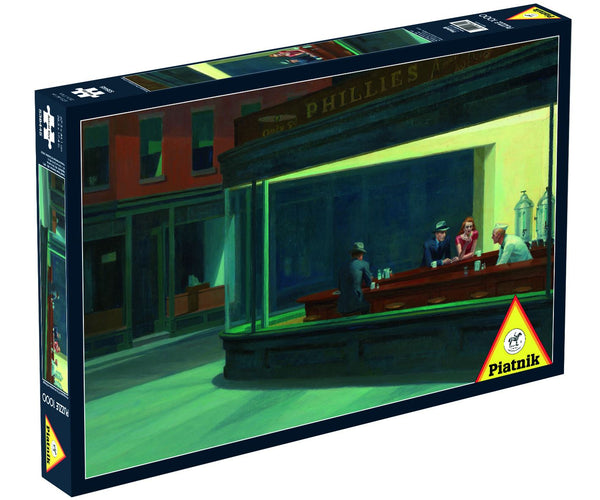 Piatnik Edward Hopper - Nighthawks Jigsaw Puzzle (1000 Pieces)