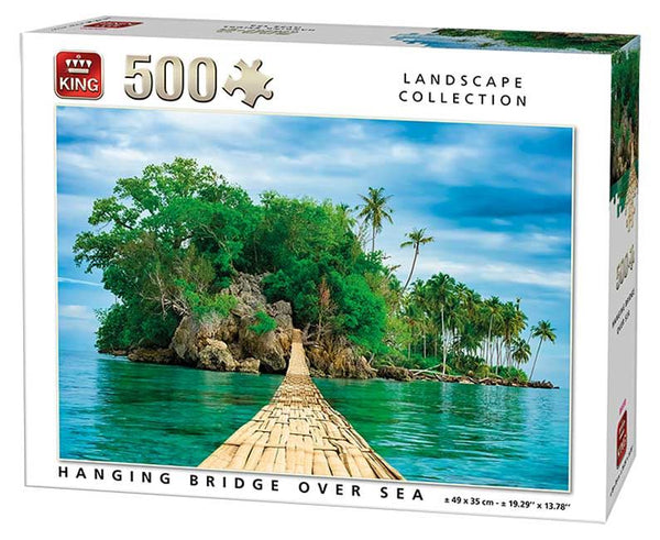 King Hanging Bridge Over Sea Jigsaw Puzzle (500 Pieces)