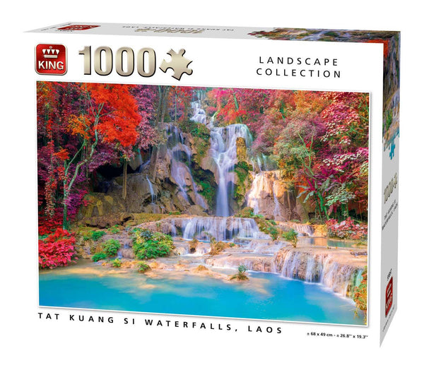 King Tat Kuang Si Waterfalls, Laos  Jigsaw Puzzle (1000 Pieces)