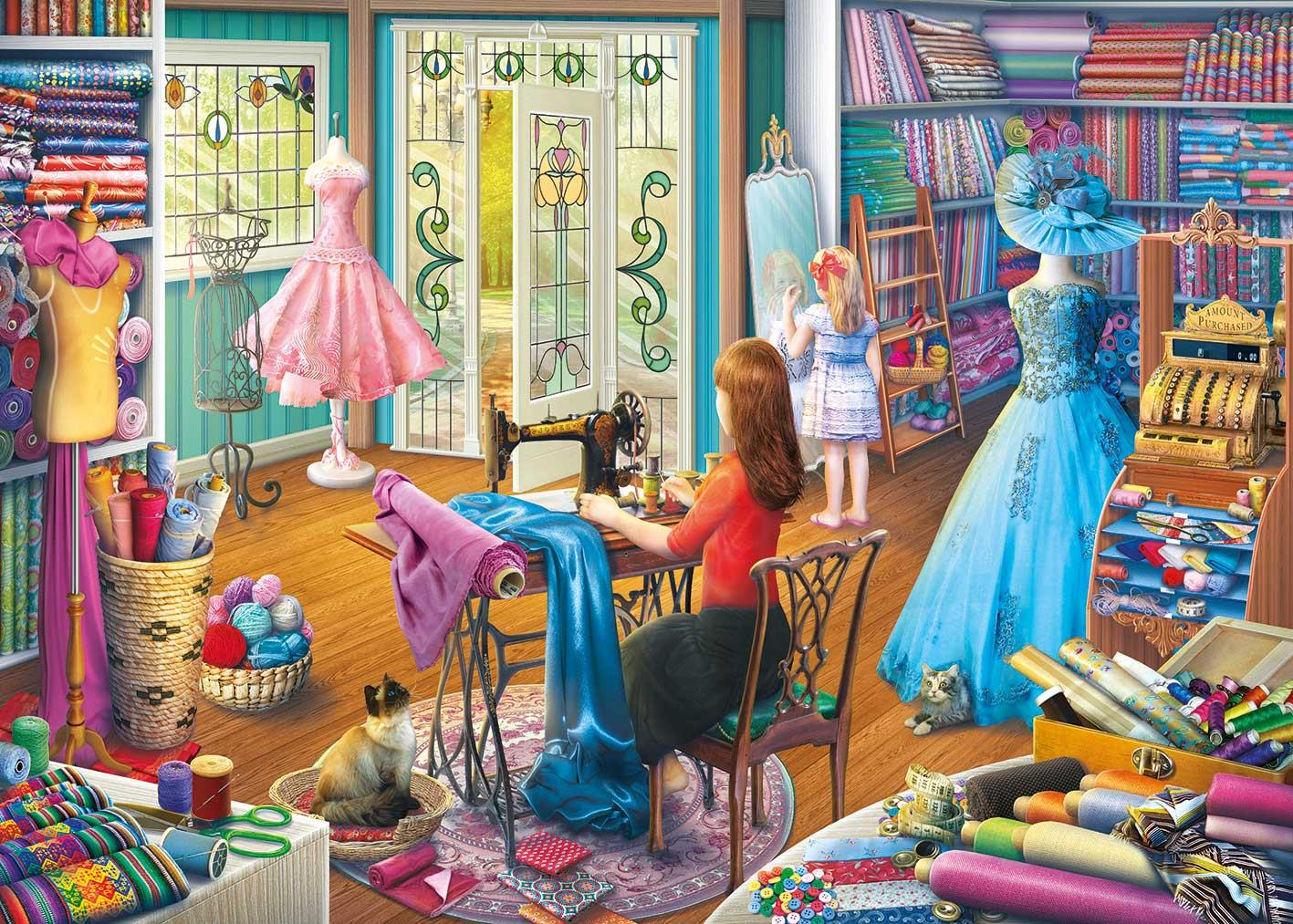 Gibsons The Dressmaker's Daughter Jigsaw Puzzle  (500 XL Pieces)