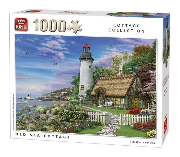 King Old Sea Cottage Jigsaw Puzzle (1000 Pieces)
