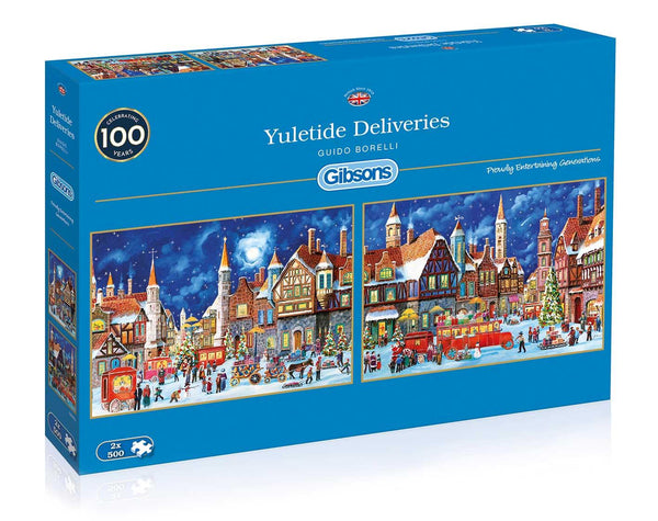 Gibsons Yuletide Deliveries Jigsaw Puzzle (2 x 500 Pieces)