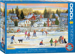 Eurographics Evening Skating Jigsaw Puzzle (1000 Pieces)