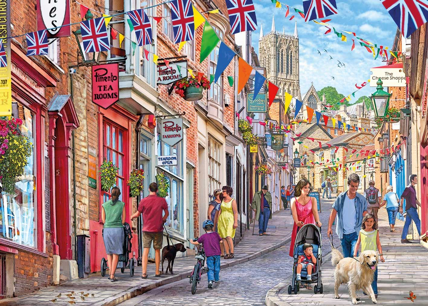 Gibsons Steep Hill Jigsaw Puzzle (1000 pieces)