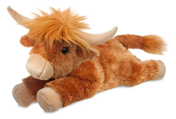 Aurora Flopsies - Hamish Highland Cow Soft Toy 30cm
