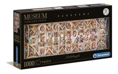 Michelangelo Sistine Chapel Vaticani Museum Collection Panorama  Jigsaw Puzzle (1000 Pieces)