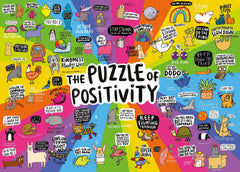 Gibsons Puzzle of Positivity White Logo Jigsaw Puzzle (1000 Pieces)