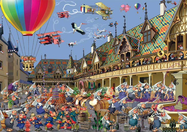 Piatnik Ruyer Wine Auction In Beaune Jigsaw Puzzle (1000 Pieces)