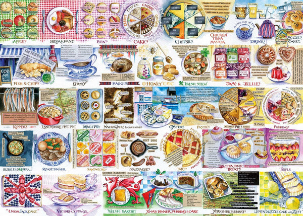 Gibsons Pork Pies & Puddings Jigsaw Puzzle (1000 Pieces)