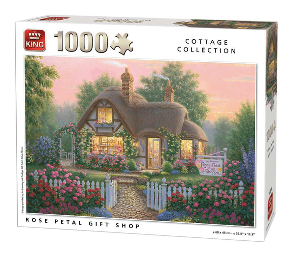 King Rose Petal Gift Shop  Jigsaw Puzzle (1000 Pieces)