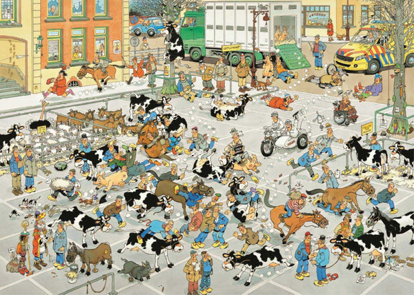 Jan Van Haasteren The Cattle Market Jigsaw Puzzle (1000 Pieces)