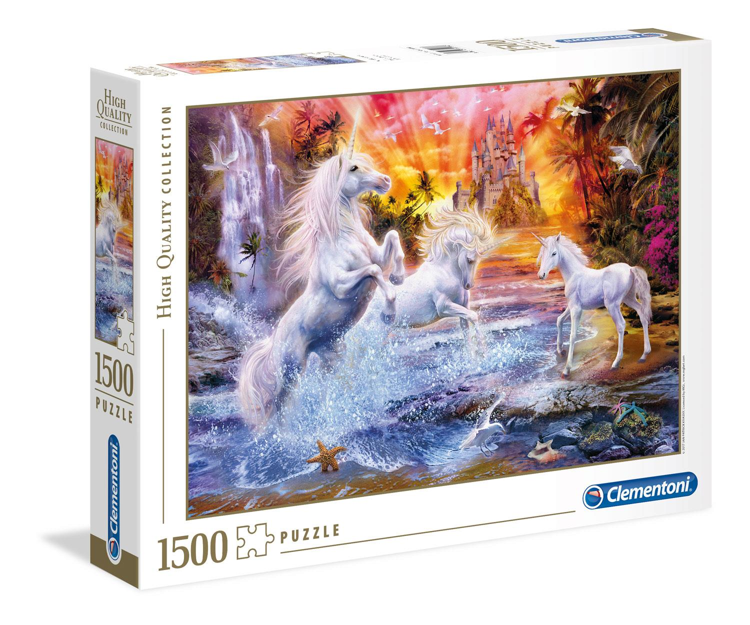 Clementoni Wild Unicorns High Quality Jigsaw Puzzle (1500 Pieces)