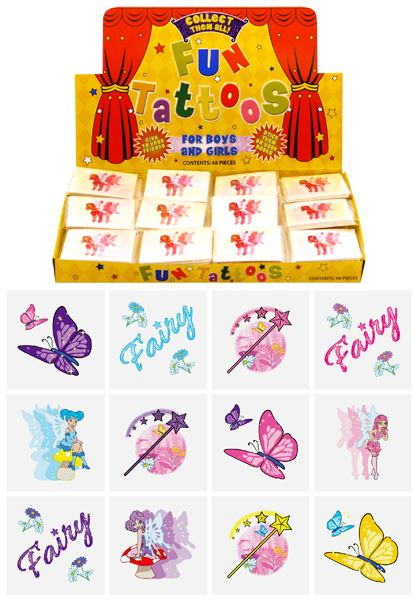 576 Mini Fairy Tattoos