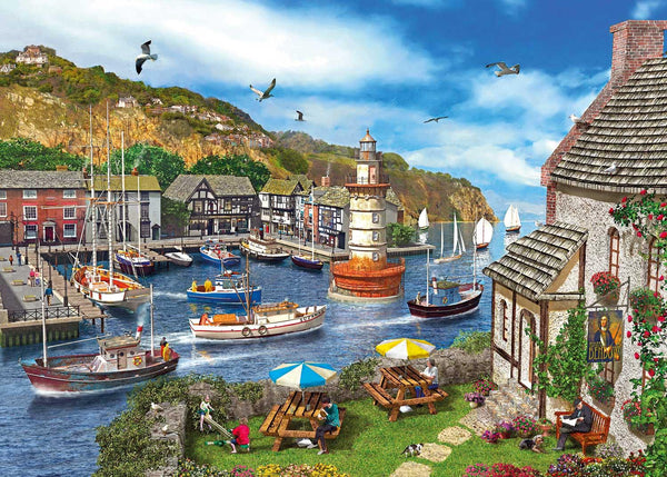Gibsons Lighthouse Bay Jigsaw Puzzle (1000 Pieces)