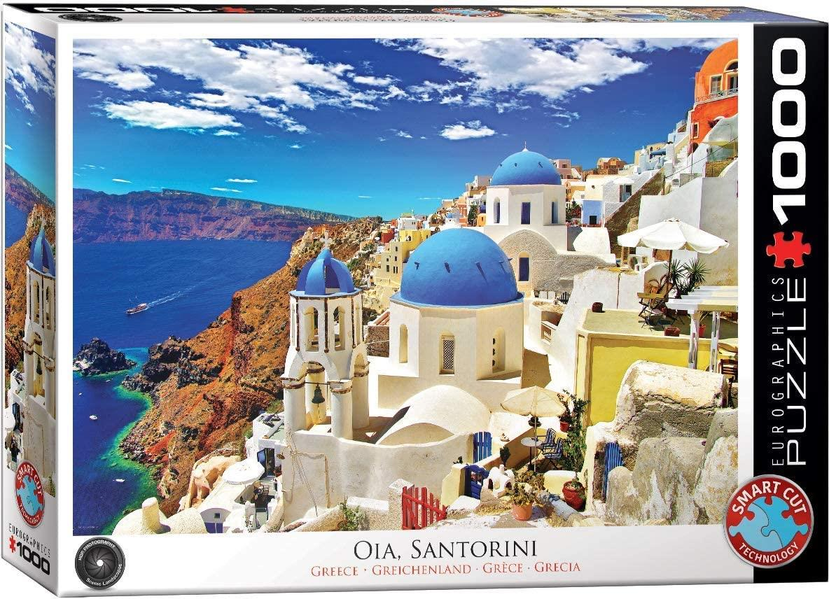 Eurographics Oia Santorini Greece Jigsaw Puzzle (1000 Pieces)