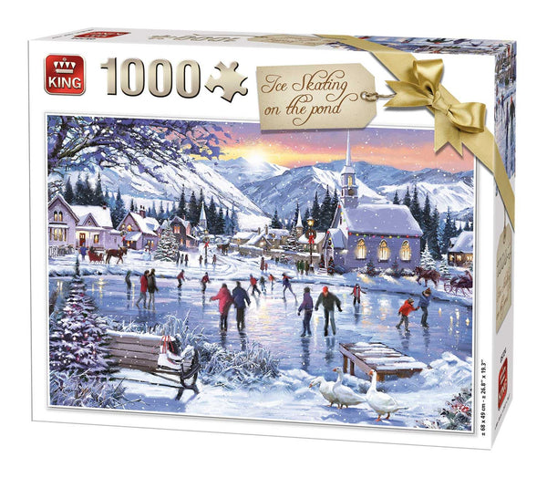 King Iceskating on the Pond Jigsaw Puzzle (1000 Pieces)