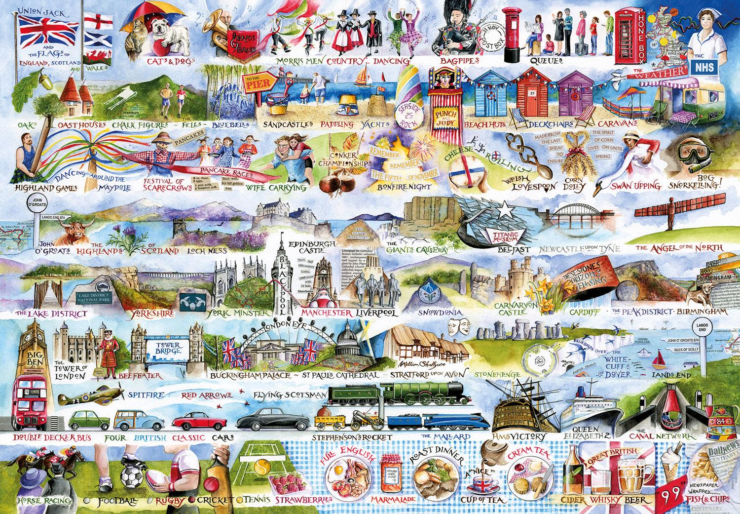 Gibsons Cream Teas & Queuing Jigsaw Puzzle (2000 Pieces)