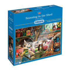 Gibsons Snoozing In The Shed Jigsaw Puzzle (1000 pieces)