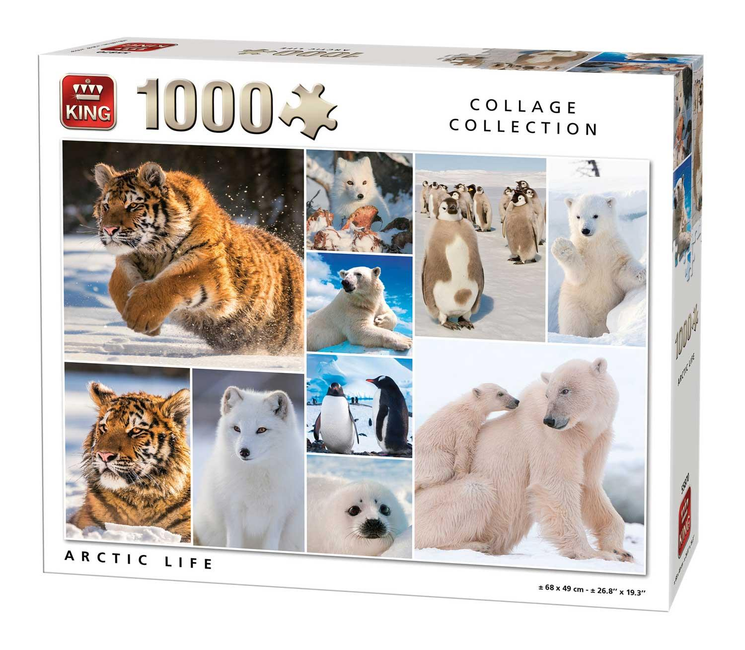King Arctic Life Collage Jigsaw Puzzle (1000 Pieces)