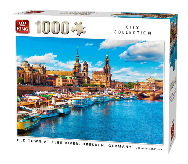 King Old Town at Elbe River, Dresden, Germany  Jigsaw Puzzle (1000 Pieces)