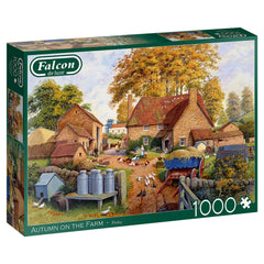 Falcon Deluxe Autumn on the Farm Jigsaw Puzzle (1000 Pieces)