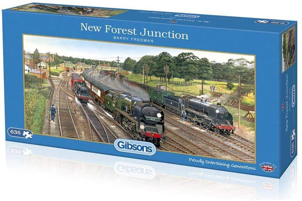 Gibsons New Forest Junction Jigsaw Puzzle (636 Pieces)