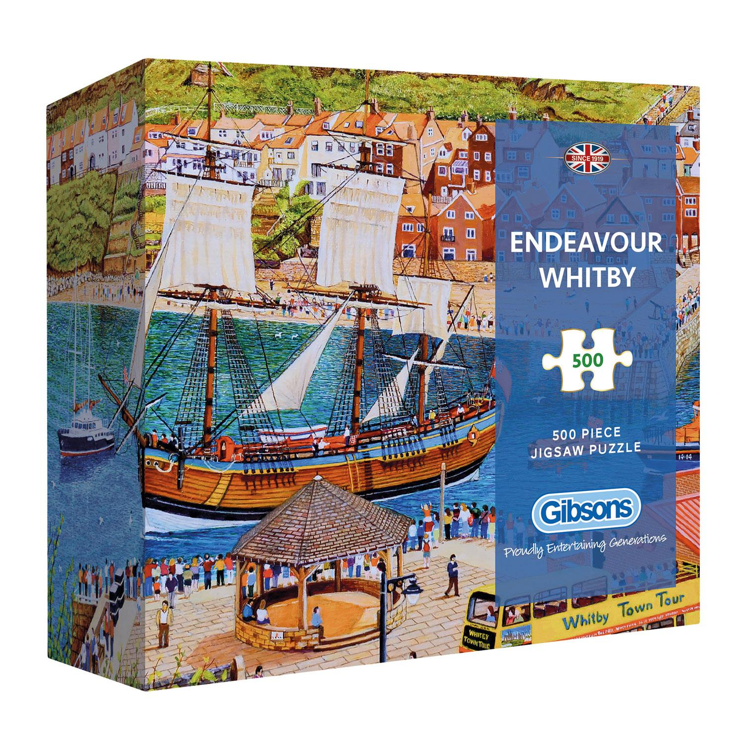 Gibsons Endeavour Whitby Jigsaw Puzzle in Gift Box (500 pieces)