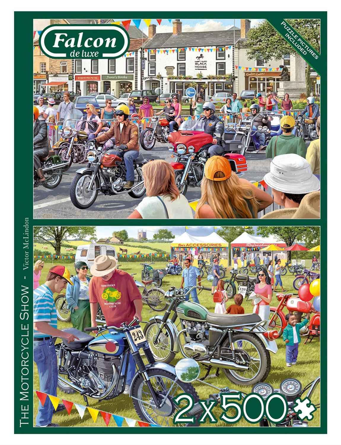Falcon Deluxe The Motorcycle Show Jigsaw Puzzle (2 x 500 Pieces)