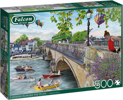 Falcon Deluxe Looking Across the River Jigsaw Puzzle (500 Pieces)
