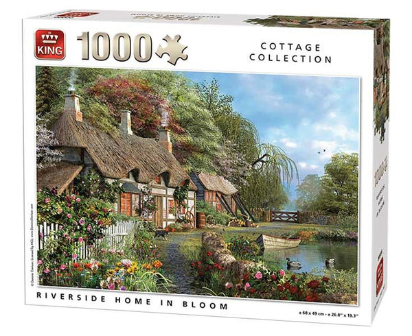 King Riverside In Bloom Jigsaw Puzzle (1000 Pieces)
