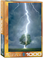 Eurographics Lightning Striking Tree Jigsaw Puzzle (1000 Pieces)