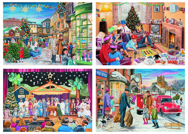 Gibsons Magic Of Christmas Jigsaw Puzzle (4 x 500 Pieces)