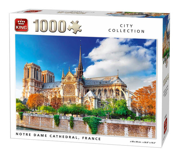 King Notre Dame De Paris Cathedral, France Jigsaw Puzzle (1000 Pieces)